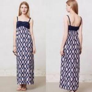 Anthropologie Lilka Maxi Ikat Dress NWOT